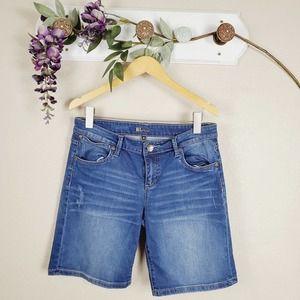 Kut From The Kloth Denim Medium Wash Jean Shorts